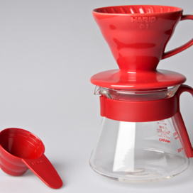 Hario VDS-3012R V60 COFFEE-MAKING SET, RED